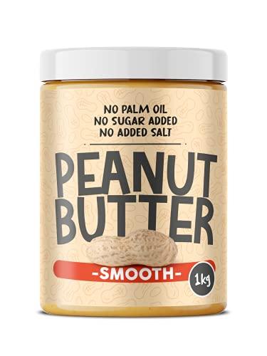 Burro di Arachidi Smooth 1kg 100% Naturale  Senza Olio di Palma  Senza zuccheri aggiunti