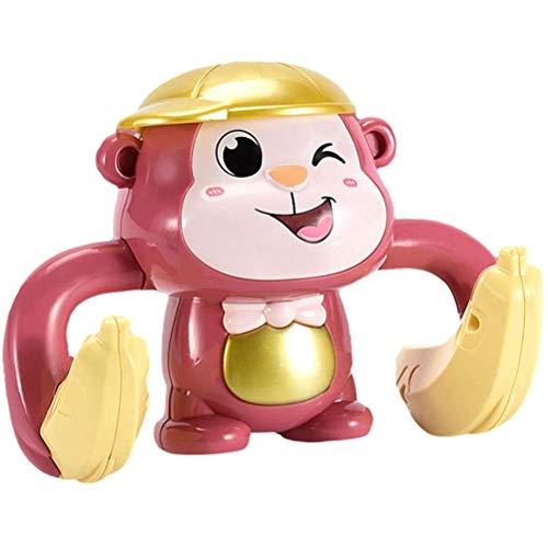 Oyria Juguetes Musicales para bebés Juguetes eléctricos para Bailar con Monos con música y Luces LED Juguete Interactivo de 360 Grados con Rollo y Brillo Regalo de Desarrollo temprano para bebés