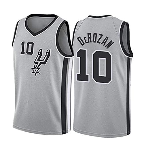 Camiseta de manga corta para hombre, diseño de la NBA Spurs No. 10