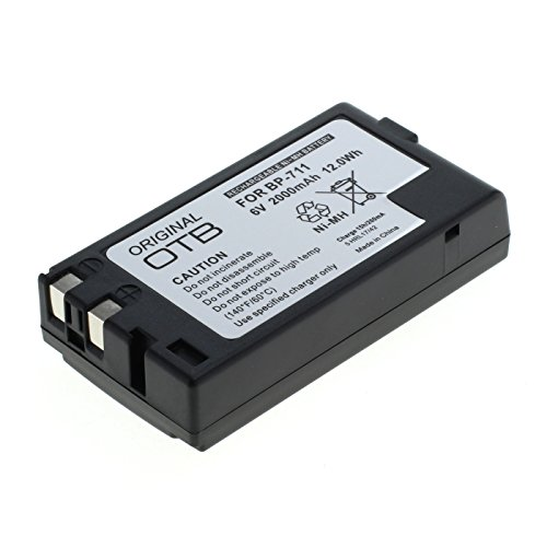MTP - Batteria per videocamera Canon BP 711 al NiCd, 1.200 mAh