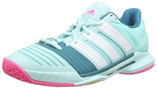 adidas Damen W Adipower stabil11 Handballschuhe, Türkis (Frost Mint f14/core White/Power Teal f14), 42 2/3 EU
