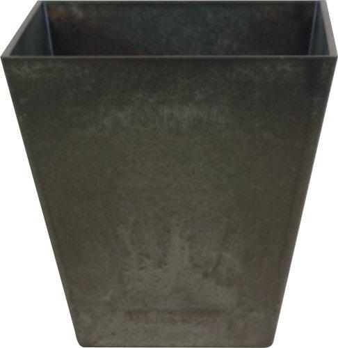 Ivyline Artstone Vaso da Fiori, per Piante Ella, Resistente al Gelo e Leggero, Nero, 20x20cm