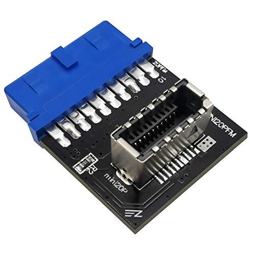 EZDIY-FAB USB 3.0 (3.1 Gen 2) Interno (19-Pin) da Intestazione a USB 3.1/3.2 Tipo-C (20-Pin) A-Key Adattatore del Pannello Frontale
