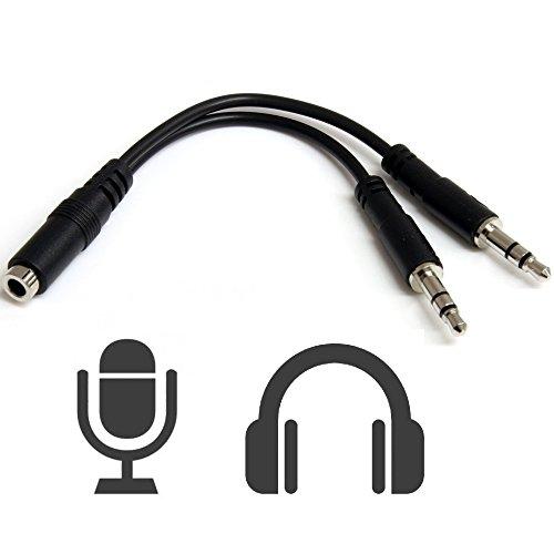Adaptador Unificador Jack Hembra 4 Pines a Doble Macho 3,5mm, Une Auriculares y Micrófono, Electrónica Rey®