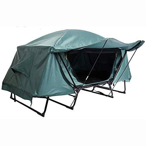 Campaña tienda tienda tienda multifunción tienda de pesca cálida litera pesca pesca camping tienda tienda de carpa llevar bolsa fuera del suelo para senderismo al aire libre (color: verde, tamaño: 85x