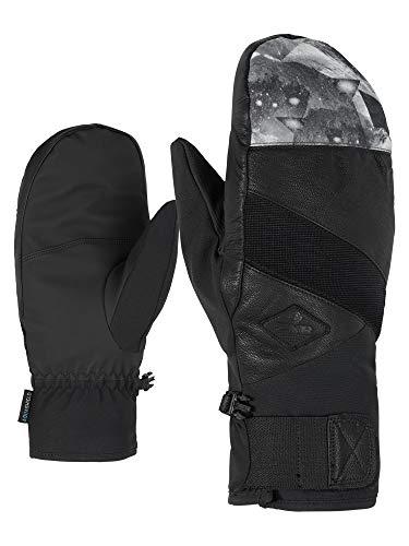 Ziener Erwachsene GIXO AS(R) AW Mitten Glove Alpine Ski-handschuhe/Wintersport, Wasserdicht, Atmungsaktiv, Grey Mountain Print, 10,5