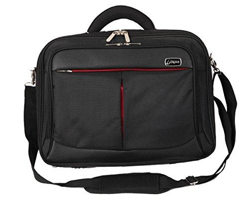 Bipra zwart/rode laptoptassen voor Sony, Dell, Asus, HP, Lenovo, Toshiba, IBM, Acer (15,6 inch schoudertas) met 3 jaar garantie