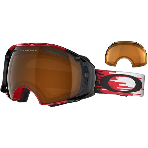 Oakley Airbrake Masque de Ski/Snow Hyperdrive Red Black Iridium/Persimmon