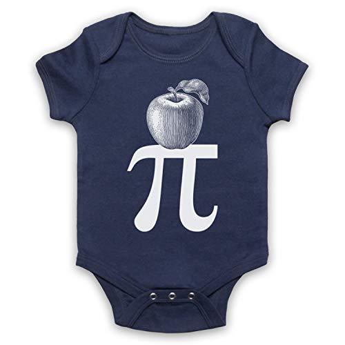 My Icon Art & Clothing Apple Pi Pie Maths Food Parody Bébé Barboteuse Bodys, Bleu Fonce, 6-12 Mois