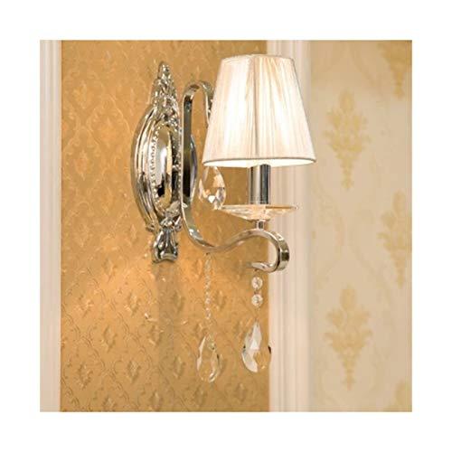 RWEAONT Modern Wall Sconce Crystal Wall Light Loft Inicio Iluminación LED Lámpara de Pared Montado en la Pared Lámparas de Lectura de la Cama (Lampshade Color : A)