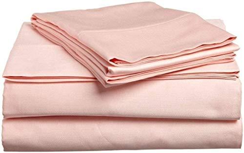 1000 Hilos 6 Piezas Juego de sábanas (Rosado sólido, Reino Unido tamaño Super King 180 x 200 cm – (6 ft x 6 ft 6 in), tamaño de Bolsillo 42 cm) 100% algodón Egipcio Premium Calidad