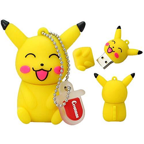 Clé USB Pen Drive Flash USB 2.0 Pokémon Rôle Série U Disque créatif clé chaîne Portable Haute Vitesse Transmission de données (16GB,Pikachu?2?)