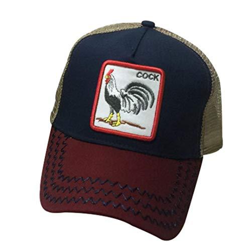 Malla Unisex Gorra De Béisbol Del Bordado De Hip Hop Animal Gorro Sombrero De Sol Con Snapback Ajustable