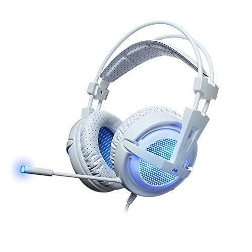 DZSF Juego De Auriculares Estéreo con Cable USB del Oído 7.1Gaming Auriculares con Micrófono con El Control por...