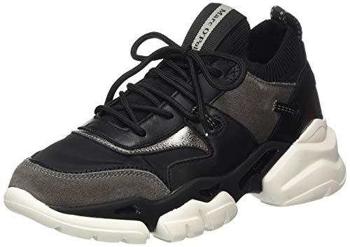 Marc O'Polo Damen 00715503502335 Sneaker, 991 Black Combi, 38 EU