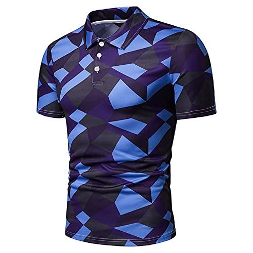 SSBZYES Camisetas De Verano para Hombre Camisetas De Manga Corta para Hombre Camisetas Polo De Moda para Hombre Camisetas De Solapa De Manga Corta con Estampado De Camuflaje para Hombre