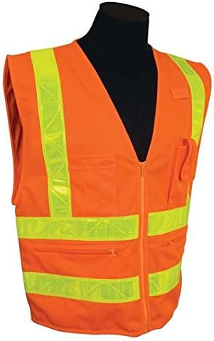 ML Kishigo - Hydrowick-Lite Multi-Zipper Vest, Color: Orange, Size: Medium