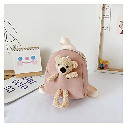 Homelus LINLIN Koreanische Version von Kindern Plüsch Bärentasche Neue Rucksack Niedliche Cartoon Kleine Rucksack Flut Jungen und Mädchen Kleinkind Schultasche Sally (Color : Pink)