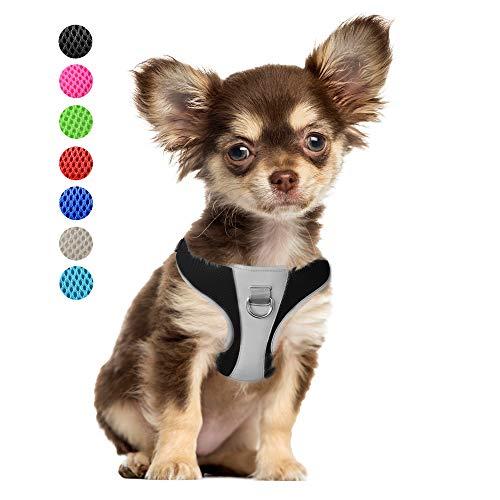 PetiFine Arnés para perro, sin necesidad de jalar, arnés con malla de aire transpirable, ajustable. reflectante, para perros y gatos, Extra small/small/ mediano/ grande