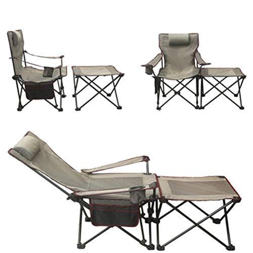 WCY Tragbares Outdoor Lounge Chair, Folding Camping Stuhl mit Fußablage, Einstellbare Zero Gravity Stuhl Mit atmungsaktive Rücken Ineinander greifen yqaae (Color : C)