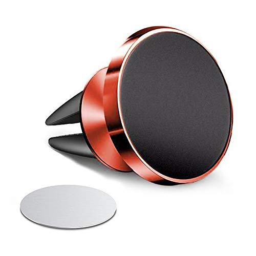 Anhui-dsb Soporte de Soporte de teléfono de 360 para iPhone Coche de ventilación de Aire Magnet Soporte en el Soporte de Montaje GPS de Coche (Color : Red 1)