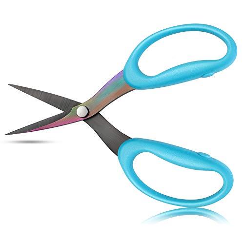 Fabric Scissors - GIAMIU Sewing Scissors, 6-Inch Serrated Applique Scissors, Perfect Scissors for Quilting, Quilting Scissors for Sewing, Decal Work, Precision Cutting Fabric, Cloth, and More