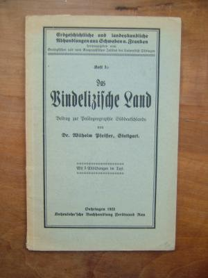 Das Vindelizische Land. Ein Beitrag zur Paläogeographie Süddeutschlands. (= Erdgeschichtliche und landeskundliche Abhandlungen aus Schwaben und Franken, Heft 5).
