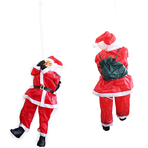 Babbo Natale su Corda 180cm Decorazione Natalizia Natale Figura Nicolò Scala