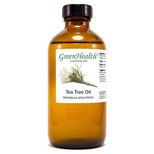 GreenHealth Tea Tree Essential Oil – 8 fl oz (237 ml) Glass Bottle w/Cap – 100% Pure Essential Oil