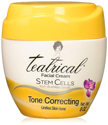 TEATRICAL Tone Correcting Face Cream with Buddleja Davidii Stem Cells, 8 Ounces