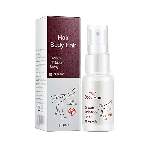 Inhibiteur de croissance des cheveux - Spray dépilatoire - Indolore et non irritant - Spray de croissance des cheveux pour hommes Femmes Jambes, mains, bras, aisselles et zones de bikini