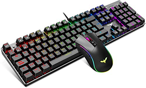 havit Tastatur und Maus Set Gaming Mouse Mechanische Tastatur in spanischer Sprache