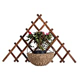 SOULOS Garten Spalier Holz Erweiterung, Gitter Spalier, Zusammenfaltbar Unterstützung Gemüse Kletterpflanzen Robust Natürliche, Rankhilfe Gartenzaun 85cm(2.8ft),1piece
