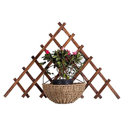 SOULOS Expandible Triángulo Enrejado Plantas Trepadoras 65 * 65cm, Madera Vegetal Soporte Pared Exterior Robusto Artificial, Jardín espaldera Entramado (Excluyendo Plantas en Maceta),5pieces