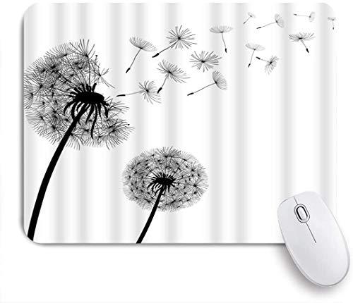 Benutzerdefiniertes Büro Mauspad,Löwenzahn Zusammenfassung Fliegende Samen Flauschige Zerbrechlichkeit Natur Pflanze Wind Sommer,Anti-slip Rubber Base Gaming Mouse Pad Mat