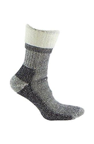 Calcetín de LANA MERINO de TREKKING, con costuras técnicas para deportes de invierno (esquí, running, senderismo, …) o situaciones de frío y humedad. Ideales para el uso con botas de montaña (43-46)