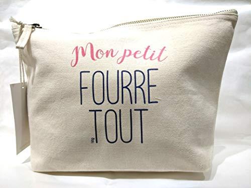 Bubble gum, Trousse M Naturel en Coton Petit fourre Tout 28x17cm
