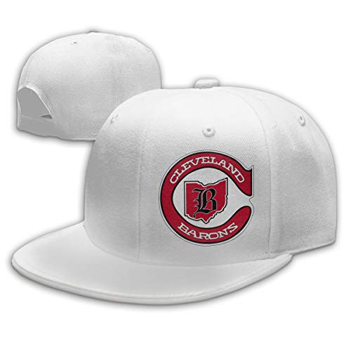 Defunct - Cleveland Barons Hockey Stylish Baseball Cap Adjustable Hat Shade Outdoor Dad Cap (Unisex) White
