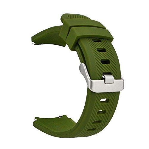 MroTech 22mm Correa S3 Frontier Silicona Deportiva Compatible para Samsung Gear S3 Frontier/Classic/Galaxy 46mm Pulsera de Repuesto para Huawei Watch GT 2 /GT Sport/Active/Elegant 22 mm Banda Verde