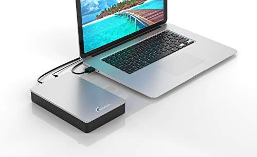 Sonnics - Disco duro externo de escritorio (4 TB, USB 3.0), color plateado miniatura