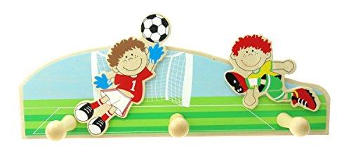 Inware 34080f   Perchero infantil de madera, diseño de fútbol