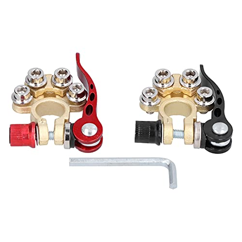 Morsetto per Batteria a 4 Vie, Morsetto per connettori per Cavo Auto a scollegamento rapido Positivo Negativo per Camion X0374