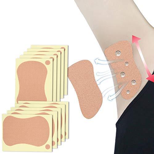 Parche desodorante en las axilas, almohadilla para el sudor de las axilas Almohadilla unisex para la axila que absorbe el sudor para hombres y mujeres 10 piezas 9 x 6.5 cm