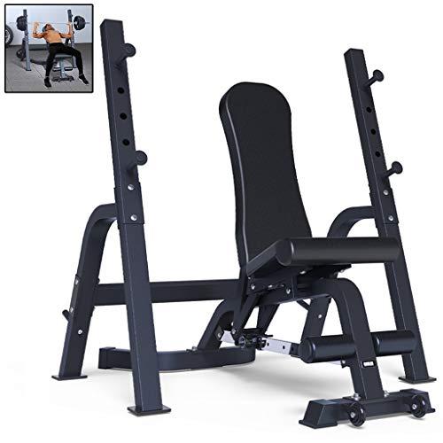 Multifunctioneel Gewichtheffen Bed Barbell Bedbank Press Squat Rack Home Halterkruk Fitnessstoel Fitnessapparatuur Bench Press Squat Set (Color : Black, Size : 108 * 200 * 130cm)
