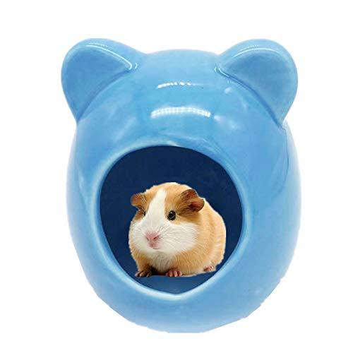 KinderALL buddelkiste Kaninchen kaninchenhaus Gerbil Spielzeug Hamster Hamster zubehör Zwerg Hamster käfig Guinea Pig Haus 9.8cm,Blue