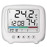 Higrómetro de temperatura Dljyy, multifunción, multifunción, electrónico de alta precisión, termómetro de oficina en casa, higrómetro seco con función luminosa, 116x102x25mm
