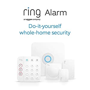 Ring Alarm 5 Piece Kit (2nd Generation) by Amazon – home security system with optional Assisted Monitoring - No long-term commitments - Works with Alexa