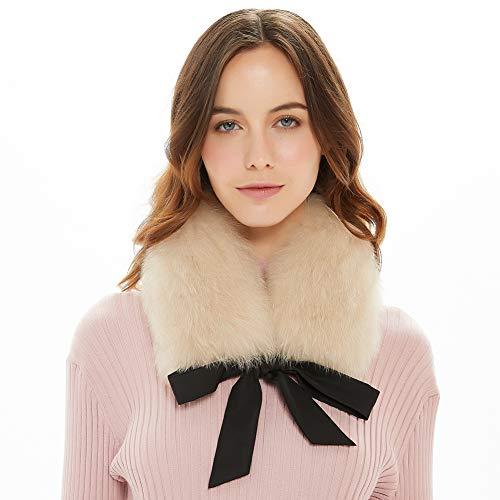 Ferand Ladies elegante genuino de piel de zorro cuello bufanda