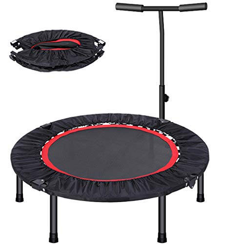 Fitness Trampoline for Kids 40''48inch Rebounder Trampoline Bungee Folding with Handle Bars Adult Home Gym Exercise Workout Jumper with Stability for Weight Loss Indoor/Outdoor Cardio(Size:48 inch)