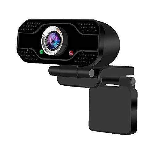 MARIJEE Gf-X1 Ordenador PC Portátil USB 2.0 Webcam 1080P HD Cámara con micrófono para videochat, grabación, compatible con Windows, Mac y Android